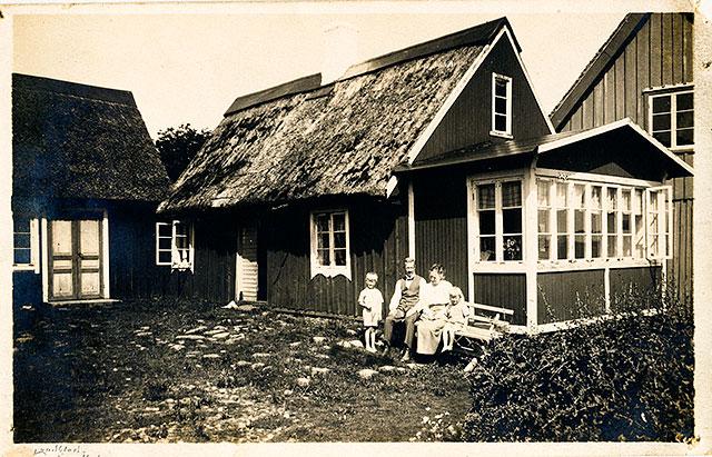 Nordfeldts gård i Skepparkroken på 1930-talet (bilden tillhör Erik Hellberg)