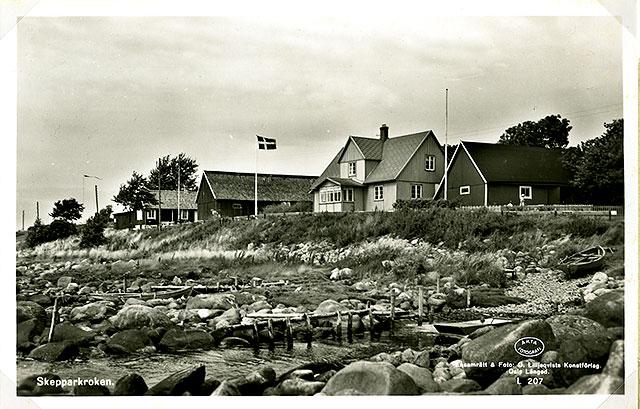 Hellbergs gård på ett vykort från 1930-talet