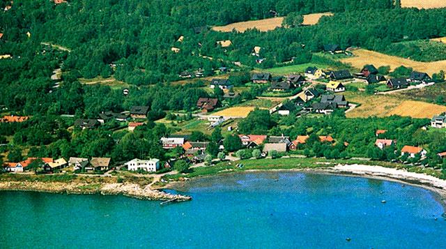 Flygfoto över Skepparkroken från c:a 1985