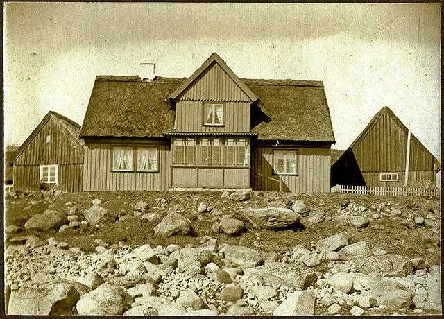 Hellbergs gård i Skepparkroken c:a 1900 (foto lånat av Erik Hellberg)