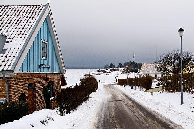 Backen ner till Skepparkroken i februari 2010