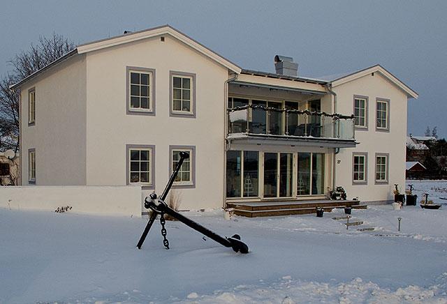 Villa Strandbaden i Skepparkroken i december 2010