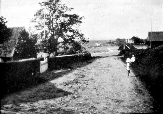 Backen ner till Skepparkroken på 1910-talet