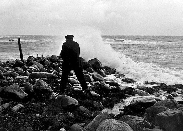 Skepparen Johannes Nilsson i Björkhagen på 1920-talet (foto Robert Romberg)