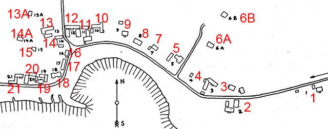 Ragnar Påhlssons karta över Skepparkroken 1958