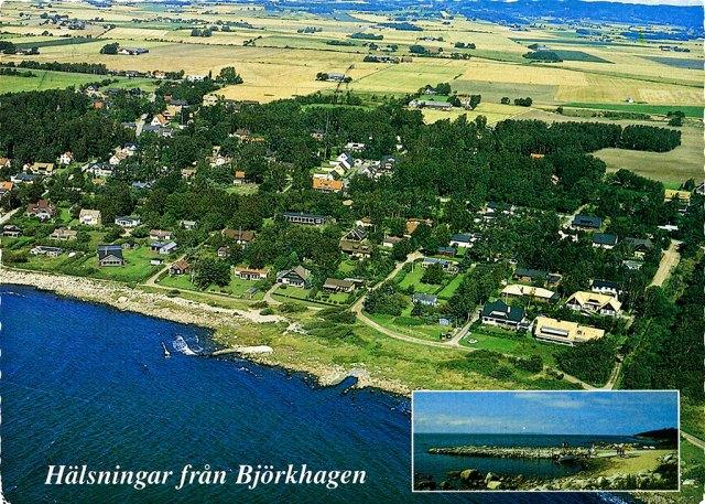 Björkhagen från luften c:a 1990
