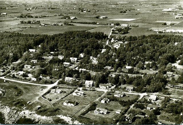Björkhagen från luften tidigt på 1960-talet