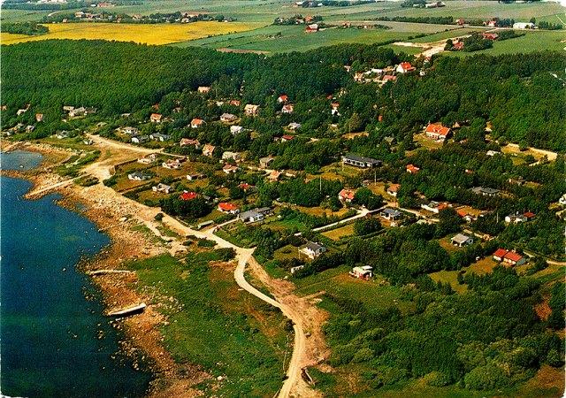 Björkhagen från luften c:a 1970