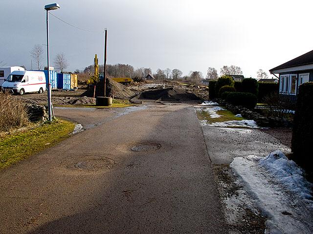 Östra Pilkvägen i Skepparkroken i februari 2011
