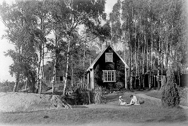 Rombergs hus i Björkhagen i slutet på 1920-talet (foto Robert Romberg)