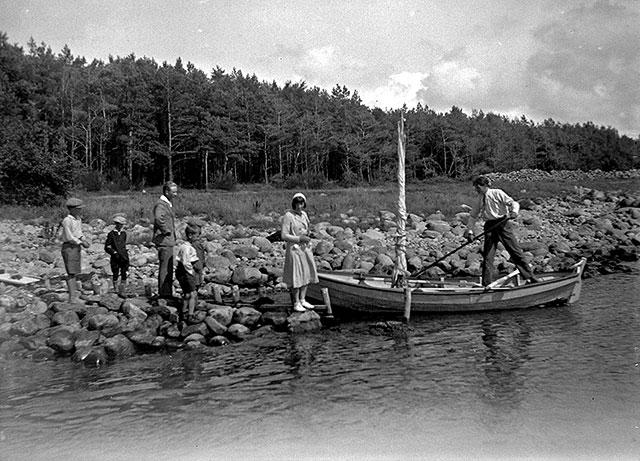Hults kåsar i Björkhagen i mitten på 1920-talet (foto Robert Romberg)