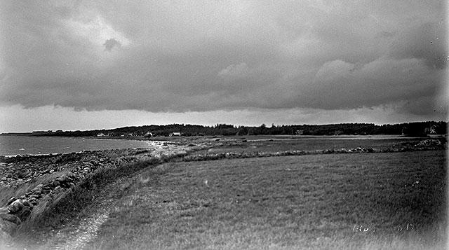 Stranden mellan Skepparkroken och Magnarp i mitten på 1920-talet (foto Robert Romberg)