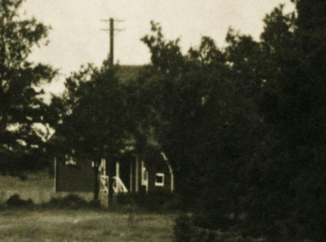 Björkhagen på ett vykort från c:a 1930 (delförstoring)