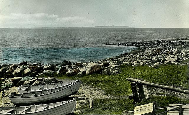 Vid Björkhagsbryggan på 1950-talet