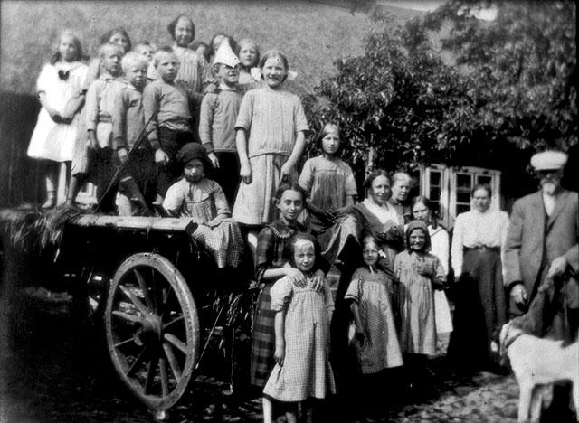 Barnkoloni i Skepparkroken för barn från Lund på 1910-talet