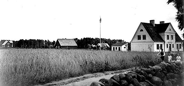 Landskronakolonin vid Björkhagsvägen på 1920-talet (foto Robert Romberg)