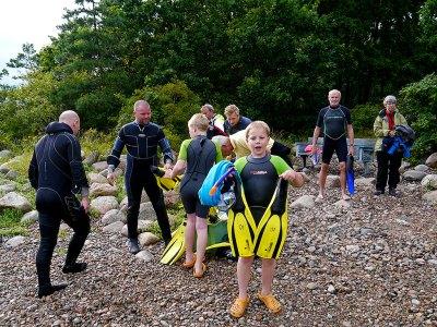 Invigning 2011-07-28 av snorkelleden vid Hultabryggan i Björkhagen