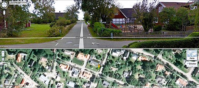 Gatubilder från Björkhagen i Google Maps