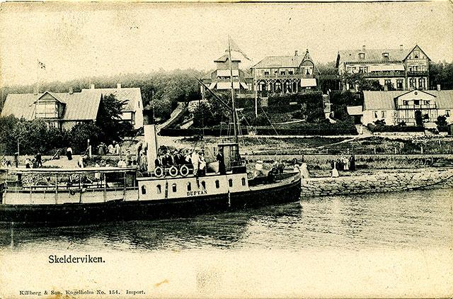 Engelholms hamn (kallad Skälderviken efter 1902) c:a 1910