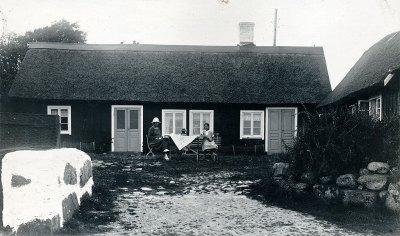 Norbergs i Hellbergs gammelgården (nuv. Nordfeldts) i Skepparkroken på 1920-talet