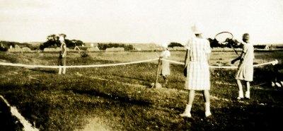 Tennis ovanför Skepparkroken på 1920-talet