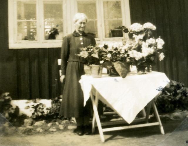 Alma Bergren på sin 50årsdag 1933 (foto från Ulla von Kunhardt  f. Thott)