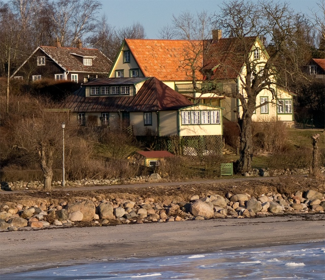 Skepparkrokens strand vid Almgården, 6:e feb 2012