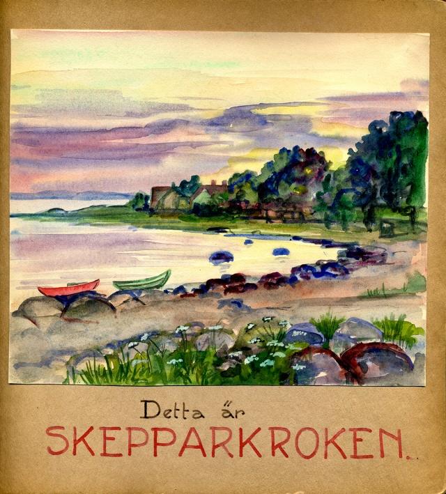 Maja Fajers Skepparkroksalbum från 1951 - sidan 1