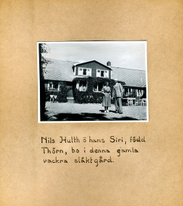 Maja Fajers album om Skepparkroken 1950-51 – sidan 24 Nils och Siri Hulth