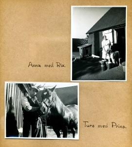 Maja Fajers album om Skepparkroken 1950-51 – sidan 27 Anna och Thure Thörn