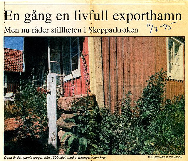 Om Skepparkroken i NST 1995-07-11 del 1