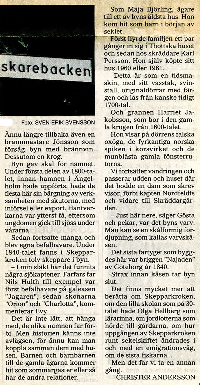 Om Skepparkroken i NST 1995-07-11 del 3