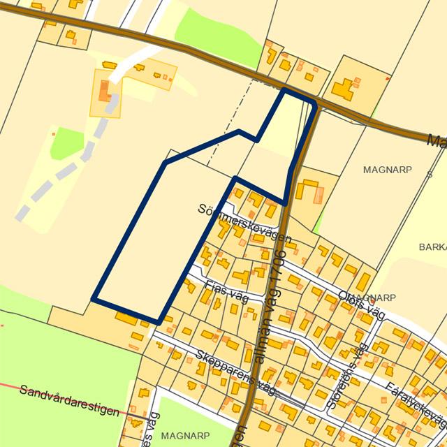 Plan för Magnarp 5:88 m.fl.