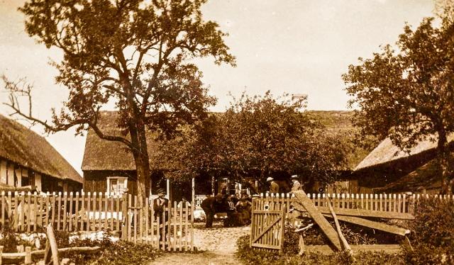 Hulths gård i Skepparkroken c:a 1900