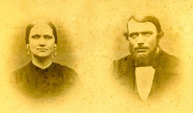 Nils och Gustava Hulth c:a 1860