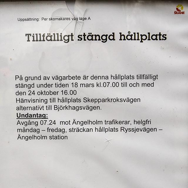 Björkhagsvägen under uppgrävning