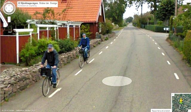 Google Street View från Björkhagsvägen i oktober 2010