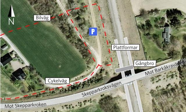 Plan för Barkåkra station