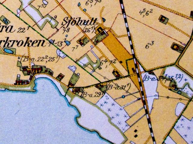 Skepparkroken på häradsekonomiska kartan från 1926