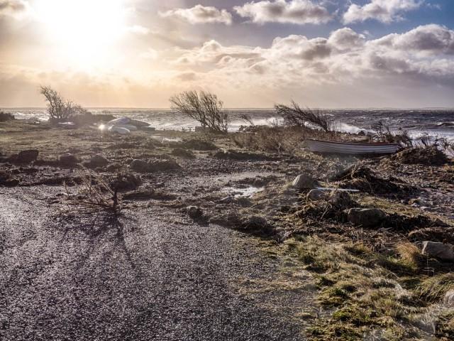 Vid Björkhagsbryggan efter stormen Gorm