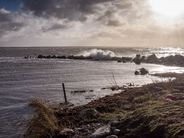 Skepparkroken efter stormen Gorm