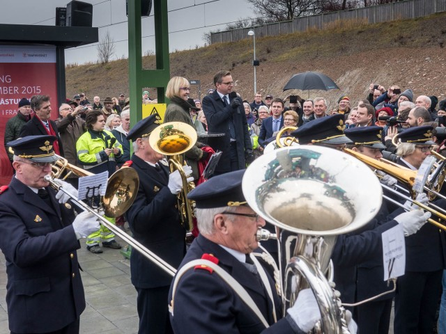 Invigning av Barkåkra station tisdag december 8, 2015