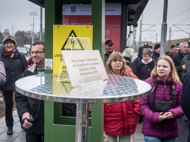 Invigning av Barkåkra station tisdag december 8, 2015