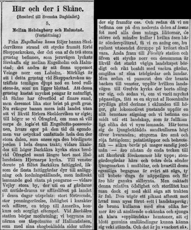 Svenska Dagbladet den 22 augusti 1885