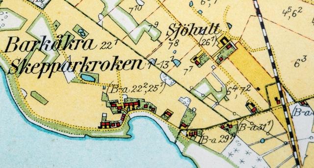 Sjöhult på karta från 1926