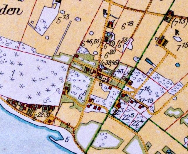 Björkhagen på häradsekonomiska kartan från 1926